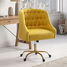 Yellow Computer Office Chair Adjustable Height