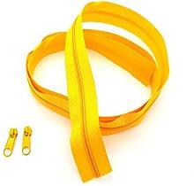 Yellow Continuous Zip & Sliders No. 5 Zippers
