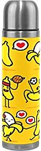 Yellow Cute Heart Banana Thermos Sport Water