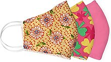 Yellow Ethnic African Print Cloth Fabric Face Mask