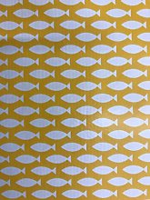 Yellow Fish Vinyl Tablecloth | Suitable For Up To