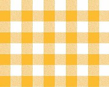 Yellow Gingham Check PVC Vinyl Wipe Clean