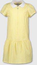 Yellow Gingham Sporty Collar School Dress - 14
