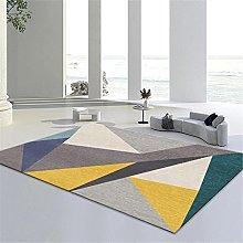 Yellow green brown geometric mosaic triangle
