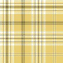 Yellow Grey White Check Wallpaper Country Tartan