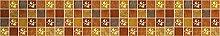 Yellow gridPVC self-Adhesive Wallpaper Frame
