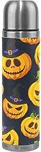 Yellow Halloween Pumpkin Water Bottle Stainless