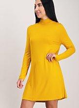 Yellow Jersey Swing Dress - 18