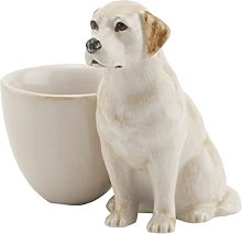 Yellow Labrador with Egg Cup