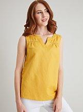 Yellow Linen-Rich Shell Top - 12