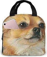 Yellow Long Hair Dog Lunch Bag Tote Bag Lunch Box