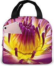 Yellow Lotus Flower Lunch Bag Tote Bag Lunch Box