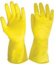 Yellow Medium Household Cleaning Gloves | Rubber