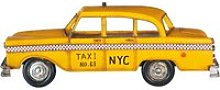 Yellow Metal Taxi Wall Decoration 12x33