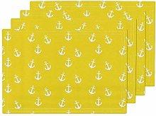 Yellow Nautical Nursery Anchor Anchors Nautical