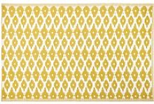 Yellow Outdoor Rug with White Graphic Print 180x270