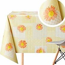Yellow Patchwork with Orange Daisy Flower Wipe