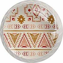 Yellow Pattern Art White Crystal Drawer Handles