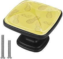 Yellow Pineapple [4 PCS]Decorative Cabinet