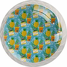 Yellow Pineapple Cake Drinks Pattern,Solid Kitchen