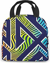Yellow Pineapple Lunch Cooler Bag, Small Insulated
