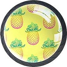Yellow Pineapples Pattern, Modern Minimalist