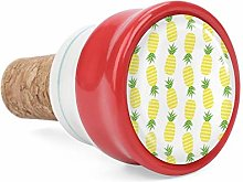 Yellow Pineapples Wine Cork Wine Bottle Stoppers