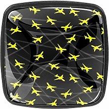 Yellow Plane Cabinet Knobs (4 Pcs) - Drawer Pulls