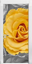 Yellow Rose in a Sea of Roses Door Sticker East