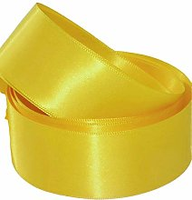 Yellow Satin Ribbon - 50mm Wide - 5 Meter - GCS