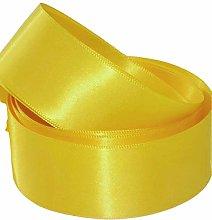 Yellow Satin Ribbon - 50mm Wide - 5 Meter - GCS