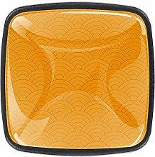 Yellow Semicircle 4pcs Colorful Crystal Glass