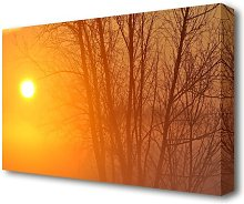 Yellow Sky Forest Canvas Print Wall Art East Urban
