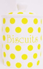 Yellow Spots Biscuits Small Canister Fine Bone