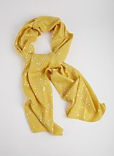 Yellow Spotty Print Scarf - One Size