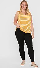 Yellow Stripe Sleeveless Top - 26-28