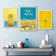 Yellow Style Scenery Posters Picture Nordic Canvas