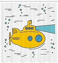 不适用 Yellow Submarine Shower Curtain Ocean
