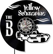 Yellow Submarine Vinyl Wall Clock Exclusive Rock