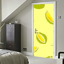Yellow Summer Cool Fruit Durian Self-Adhesive