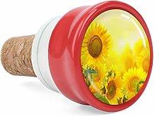 Yellow Sun Flowers Wine Cork Wine Bottle Stoppers