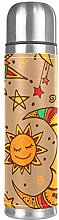Yellow Sun Moon and Stars Tribal Pattern Stainless