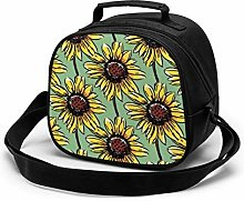 Yellow Sunflower Insulated Lunch Bag Mini Cooler