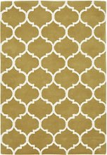 Yellow & White Rug with Pattern - 120x170cm