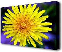 Yellow Wildflower Flowers Canvas Print Wall Art
