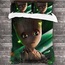 Yellowbiubiubiu Baby Groot 3 Piece Bedding Set