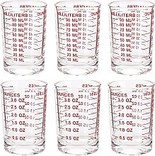 Yesland 6 Pack Measuring Cup Shot Glass, 3 Ounce /