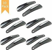 Yesoa 10Pcs Shoe Horn Plastic Shoe Horn 4.7inch