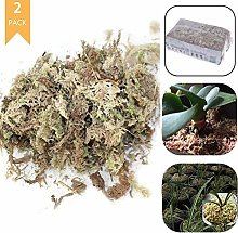 Yesoa 2 Pack Sphagnum Moss Dry Moss Natural Water