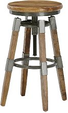 Yessenia Height Adjustable Bar Stool Union Rustic